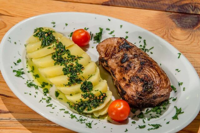 Marinated grilled tuna steak bassia seafood restaurant zante zakynthos greece